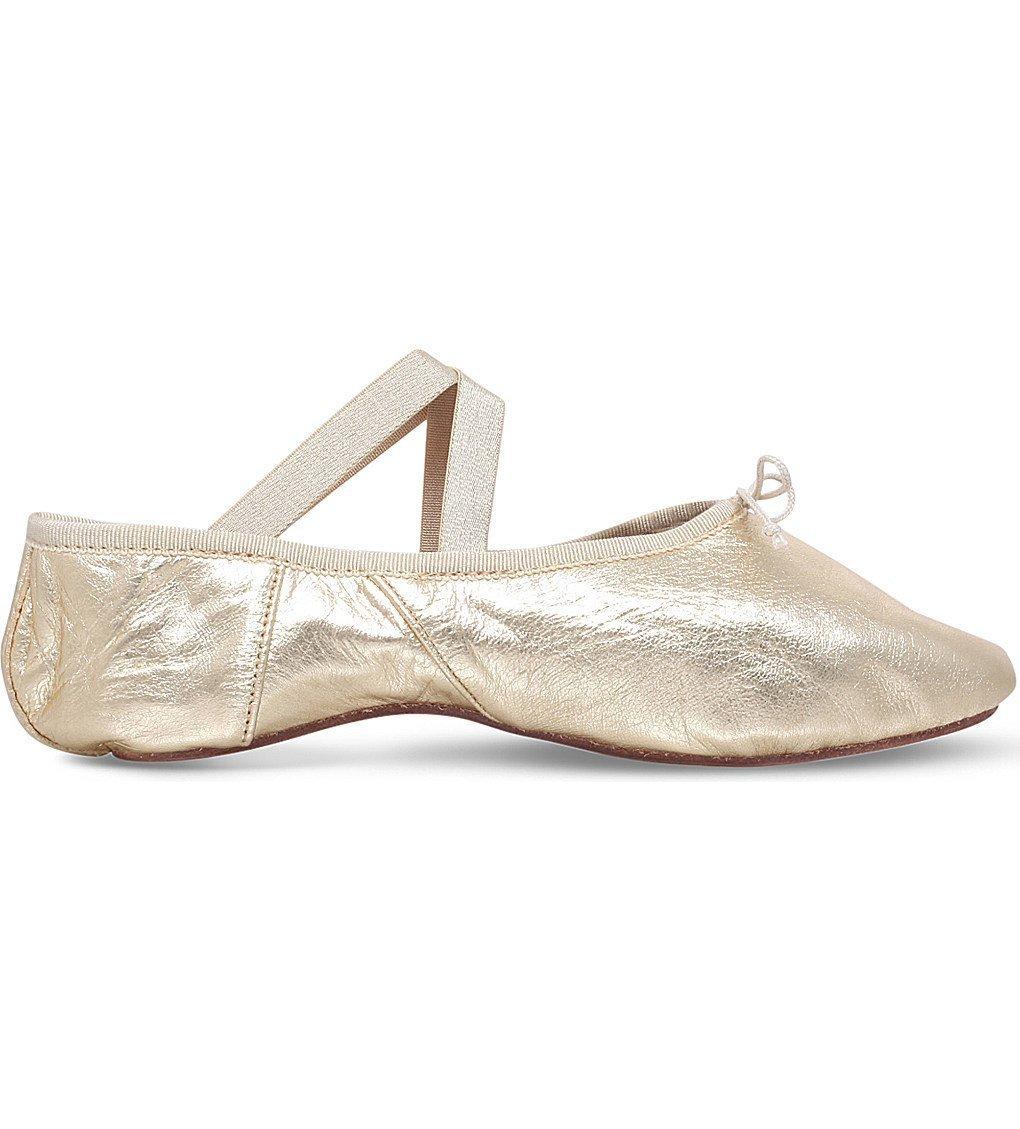 OPERA NATIONAL DE PARIS Solis Metallic-leather Ballet Flats