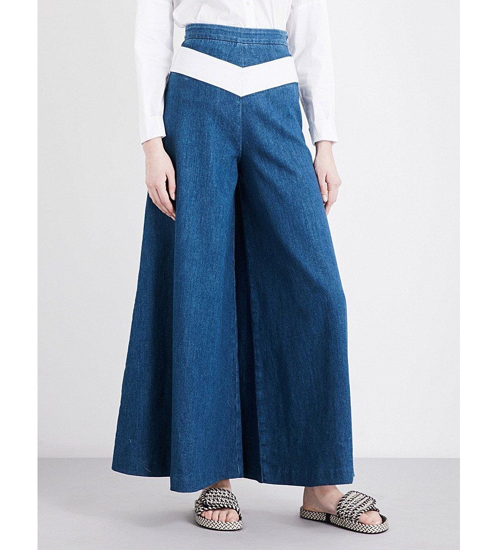 MAJE Pako Wide-leg High-rise Jeans