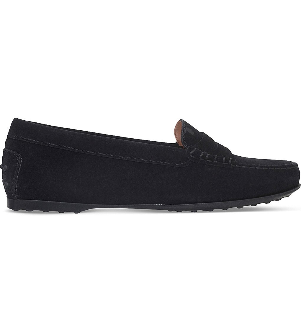 TODS City Gommino Suede Loafers