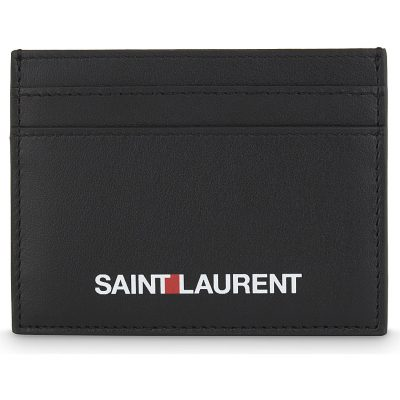 SAINT LAURENT Logo Leather Card Holder