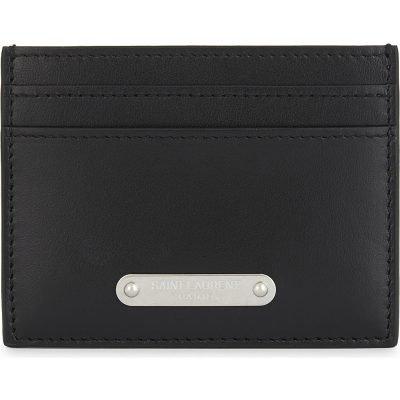 SAINT LAURENT Branded Plaque Leather Logo