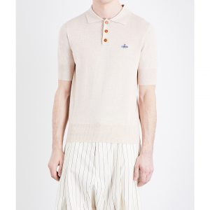 VIVIENNE WESTWOOD Logo-detail Cotton Knitted Polo Shirt