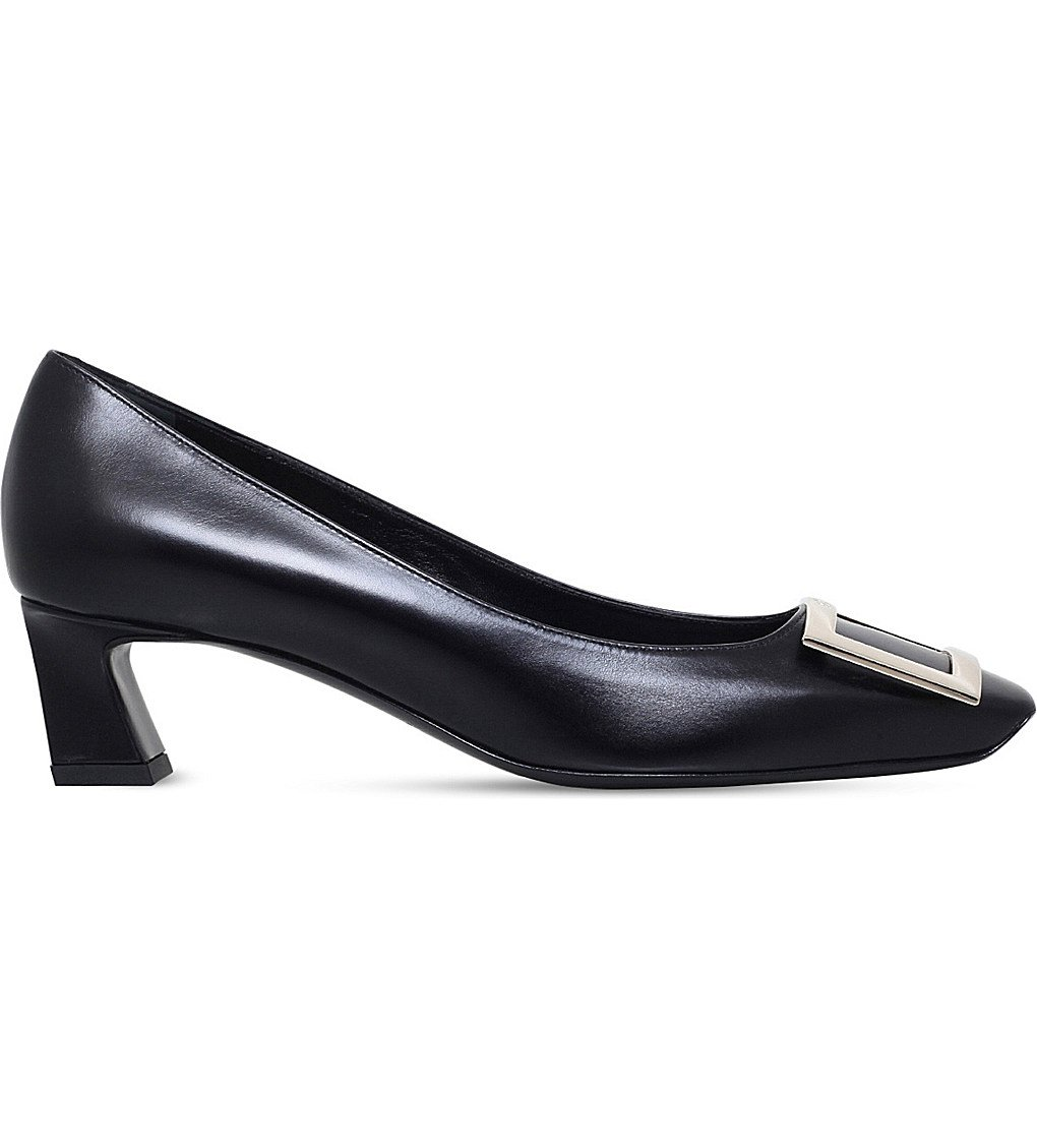 ROGER VIVIER Trompette Patent Leather Pumps