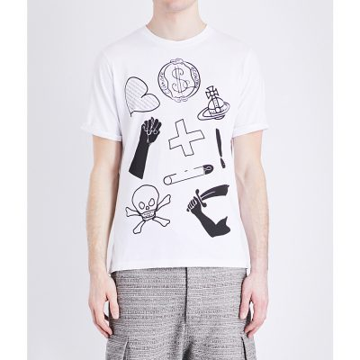 ANGLOMANIA Classic Logo-print Cotton-jersey T-shirt