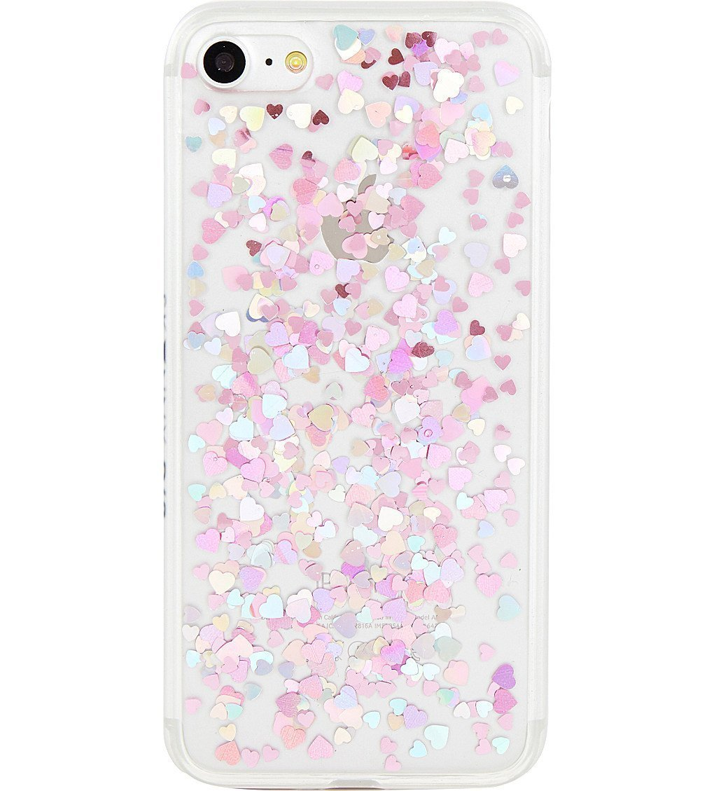 SKINNYDIP Heart Sequin Jelly IPhone 7 Case