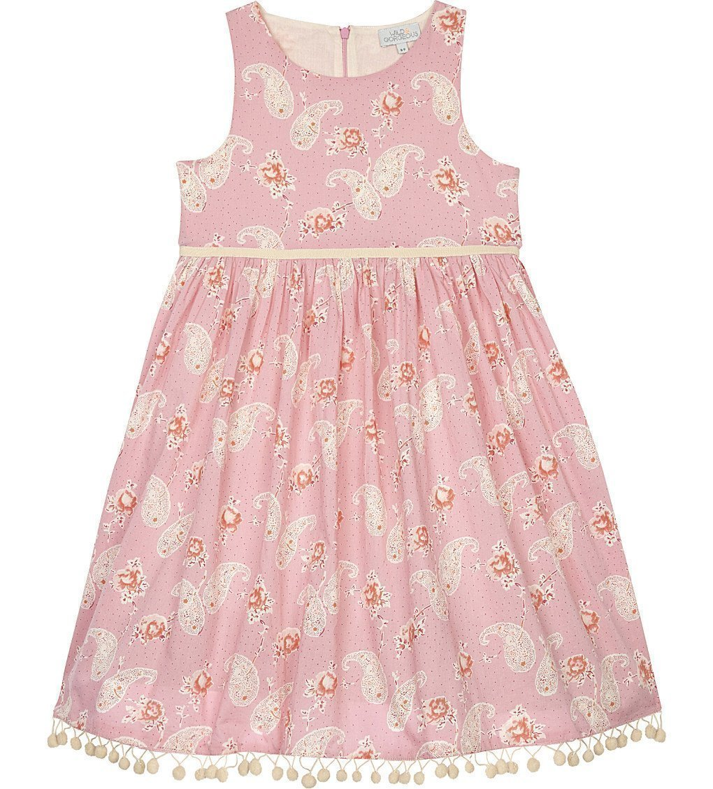 I LOVE GORGEOUS Lampshade Paisley Cotton Dress 4-11 Years