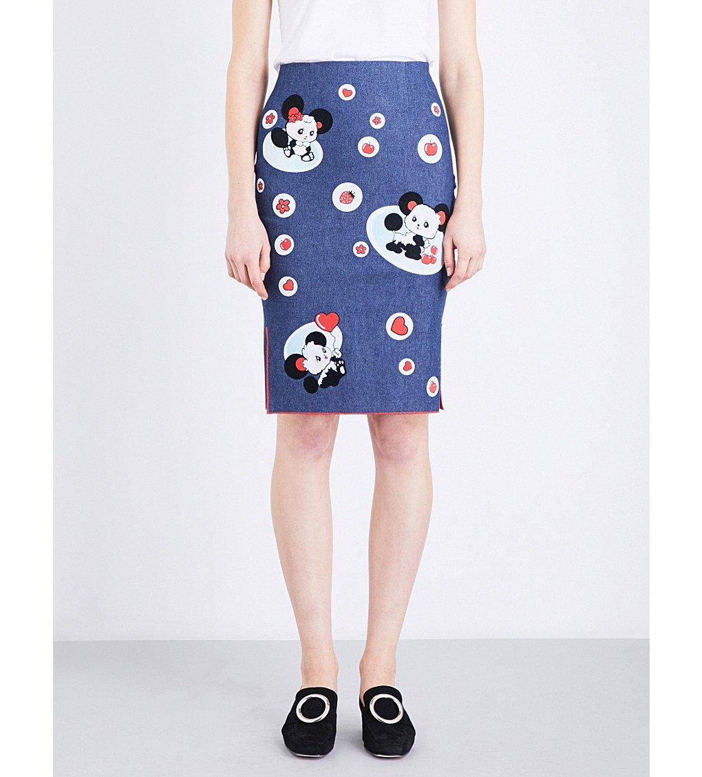 MIMI WADE Panda Stretch-denim Skirt