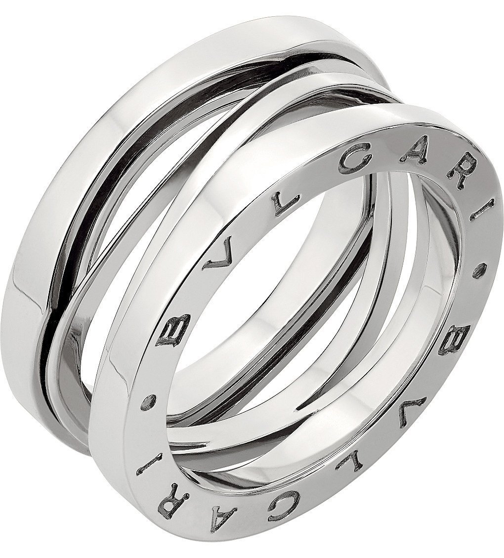 BVLGARI B.zero1 Zaha Hadid Four Band 18ct White-gold Ring