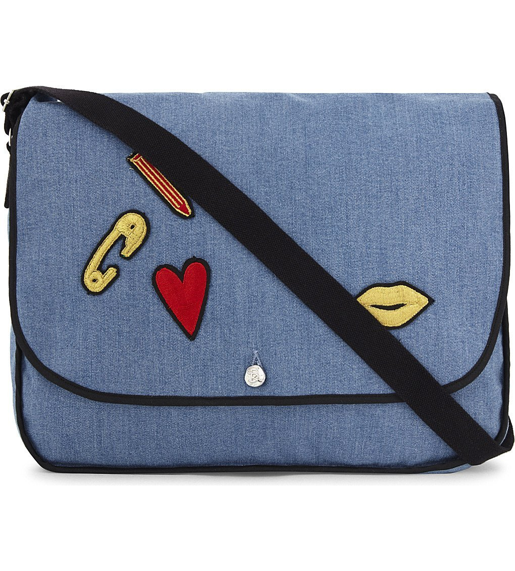 SONIA BY SONIA RYKIEL Badges Cotton Shoulder Bag
