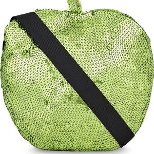 SONIA BY SONIA RYKIEL Sequin Apple Cotton Shoulder Bag