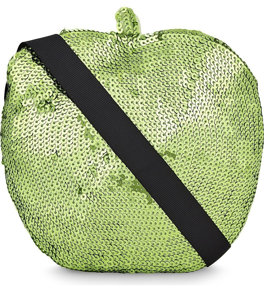 SONIA BY SONIA RYKIEL Sequin Apple Cotton Shoulder Bag
