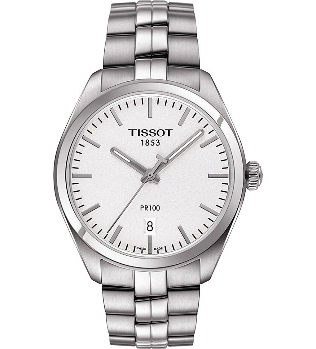 TISSOT T101.410.11.031.00 PR 100 Stainless Steel Watch