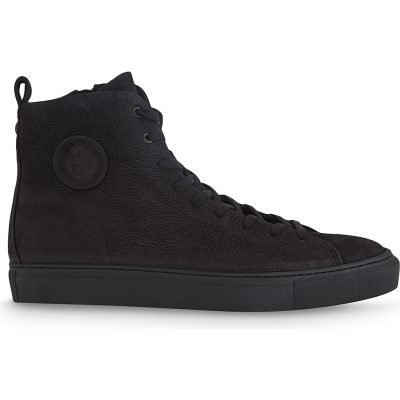 THE KOOPLES High-top Washed Leather Trainers