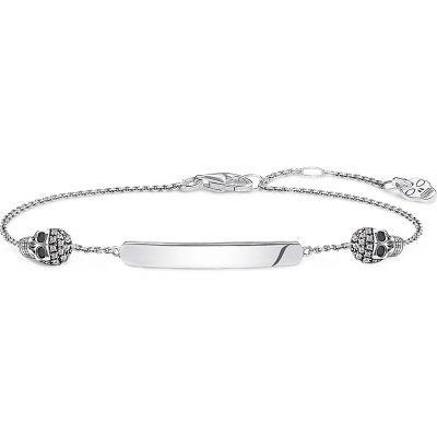 THOMAS SABO Love Bridge Skull Sterling Silver And Diamond Bracelet