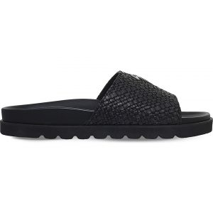 GIUSEPPE ZANOTTI Weave Leather Sliders
