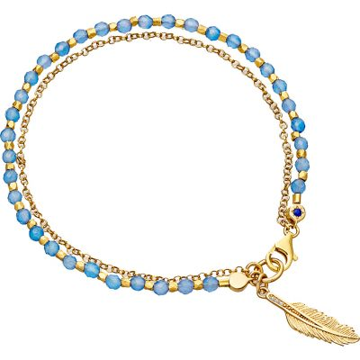 ASTLEY CLARKE Biography Feather 18ct Yellow Gold-plated Sterling Silver Bracelet