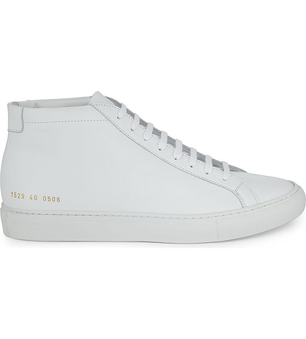COMMON PROJECTS Original Achilles Leather Mid-top Trainers