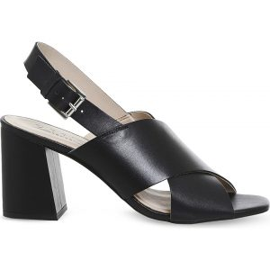 OFFICE Memory Cross-strap Leather Sandals