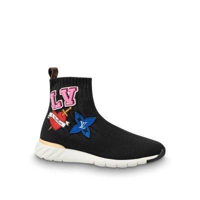 LV Black Heart Sock Trainer Boot