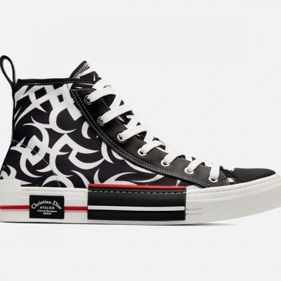"B23 High-top Sneaker In Dior ""Tribal"" Technical Canvas"