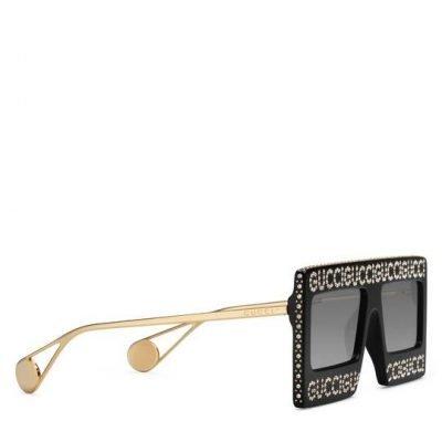 Mask-frame Acetate Sunglasses