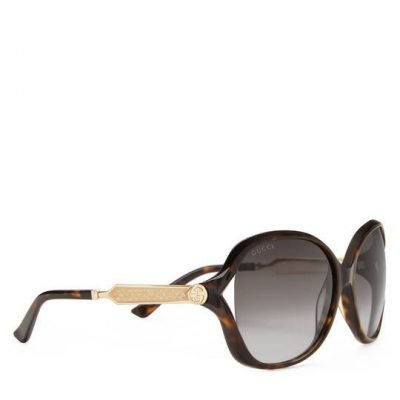 Oversize Round-frame Acetate And Metal Sunglasses