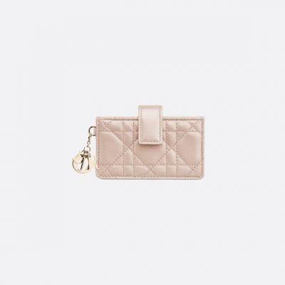 Lady Dior Lambskin Card Holder
