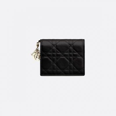Lady Dior Lambskin Wallet