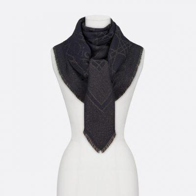 Dior Cannage Lurex Black 140 Stole