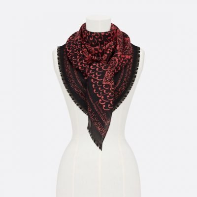 Red And Black Stole